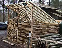 a firewood storage shed for lovely log fires