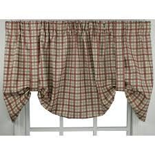 bristol two tone plaid 24 x 60 inch tie up valance curtain ellis