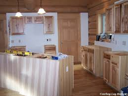 Kitchens With Hickory Cabinets Kitchen Cabinets And Counter Tops Cowboy Log Homes