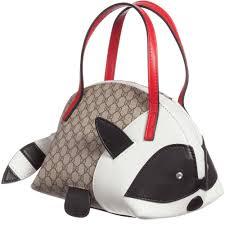 gucci girls racoon u0027gg u0027 logo print handbag 20cm childrensalon