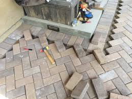 laying a paver patio paver patios frank u0027s home remodeling project