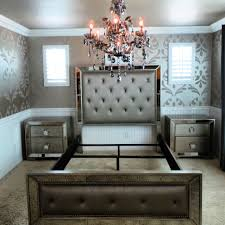 coaster devine bedroom set with button tufted headboard in black