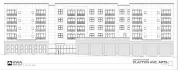 retail space floor plans 100 apartments retail planned for 6300 clayton avenue in dogtown