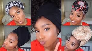 short wraps hairstyle how to 9 easy quick turban headwrap styles styles for short to