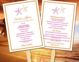 Beach Wedding Program Templates Diy Wedding Program Fan Template Ceremony Program