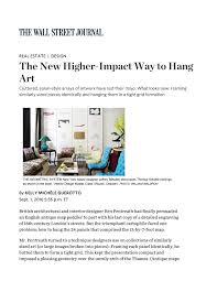 the new higher impact way to hang art richard mishaan design