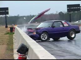 racing mustangs when mustangs attack drag racing crashes