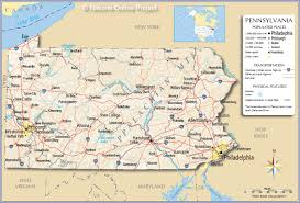 map usa philadelphia reference map of pennsylvania usa nations project