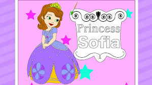 disney princess sofia the first coloring pages online free youtube