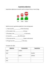 superlative adjectives by lynreb teaching resources tes