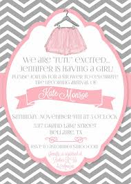 tutu invitations for baby shower redwolfblog com