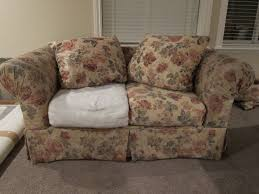 slipcovers for sofas with loose cushions do it yourself divas diy strip fabric from a couch and reupholster it