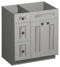 bathroom vanity base cabinets 30 inch white shaker vanity combo base drawers left us cabnet