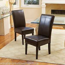 Brown Leather Chairs For Dining Leather Dining Room Chairs Ebay