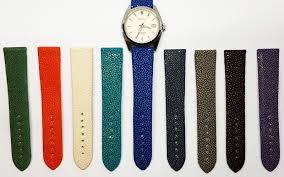 bracelet montre images Bracelets de montre gt bracelets de montre en galuchat poli jpg