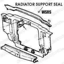 seal radiator support to hood repro 1967 1969 mercury