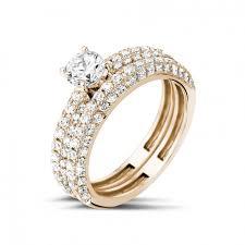 verlobungsringe rotgold diamantene verlobungsringe aus rotgold 0 50 karat baunat