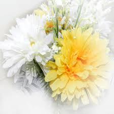 Gambar alam menanam putih daun bunga musim semi kuning