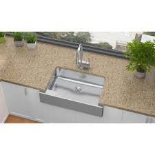 Elkay Crosstown Sink by Elkay Lustertone Eluhfs2816 Single Bowl Farmhouse Stainless Steel