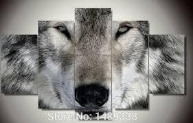 chambre de d馗ompression encadrée imprimé loup groupe peinture enfants chambre décor d