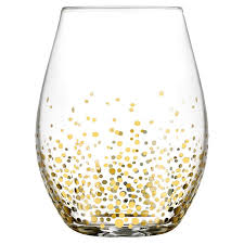 fitz and floyd gold luster 20 oz stemless wine glass reviews