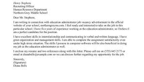 free sample cover letter for resume teacher education