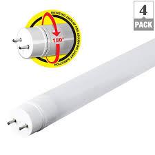led tube lights vs fluorescent feit electric 2 ft t8 t12 24w equivalent cool white 4100k linear