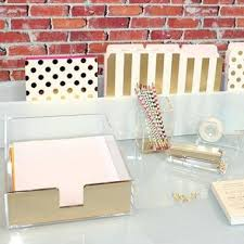 Home Decor Uk Kate Spade Acrylic Desk Accessories Uk Office Supplies Intended