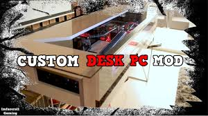 Best Pc Gaming Desk by Ultimate Custom Water Cooled Gaming Desk Pc Mod Crazy Gaming Pc
