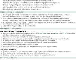 bartender resume format best of server and bartender resume resume templates for bartenders
