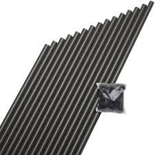 deckorail 3 4 in x 26 in black aluminum round baluster 15 pack black aluminum round baluster 15 pack 70570 the home depot