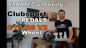 fanatec clubsport pedals porsche 911 gt3 rs v2 unboxing youtube