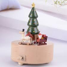 Kids Wood Crafts - 2017 sale christmas tree music box creative gift christmas