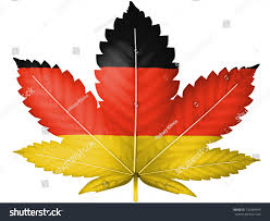 The Germany Flag German Flag Painted On Cannabis Marijuana Stockillustration