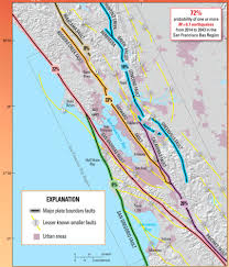 San Francisco Area Map by Mystery Gap Connecting Earthquake Faults Near San Francisco