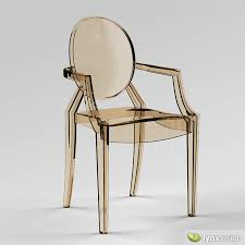 3d louis ghost armchair by philippe starck cgtrader