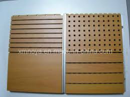 Wood Interior Wall Paneling China Fireproof Acoustic Sound Absorption Perforated Wooden