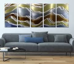 modern metal wall spaces modern with contemporary artwork home