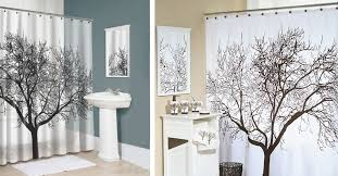 Waterproof Fabric Shower Curtains Adorable Tree Shower Curtains And Mobstub Waterproof Bathroom