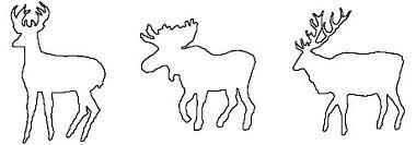 moose template animals free saw patterns
