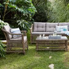 canapé rotin pas cher canapé d extérieur 3 places courbery canapé de jardin alinéa