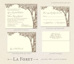 plantable tree wedding invitations on seeded paper la foret by