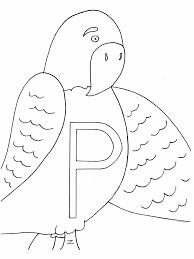 p parrot alphabet coloring pages u0026 coloring book