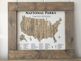 United States Map Art by National Park Poster National Parks Poster Adventure Map
