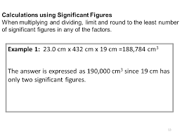 Calculations Significant Figures Worksheet Answers Section Ppt