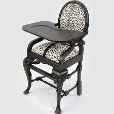 High Chairs For Babies Oval Highchair In Black And Ivory Leopard And Luxury Baby Cribs In