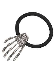 elastic hair band 2018 skeleton elastic hair band silver in hair