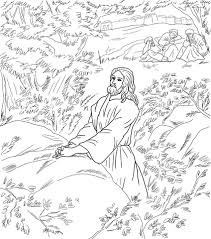 jesus pray garden gethsemane coloring free