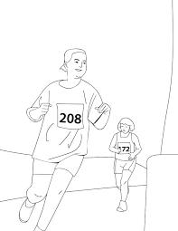 half marathon coloring page handipoints