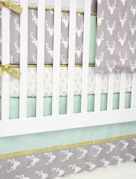 woodlands deer baby bedding mint crib set caden lane